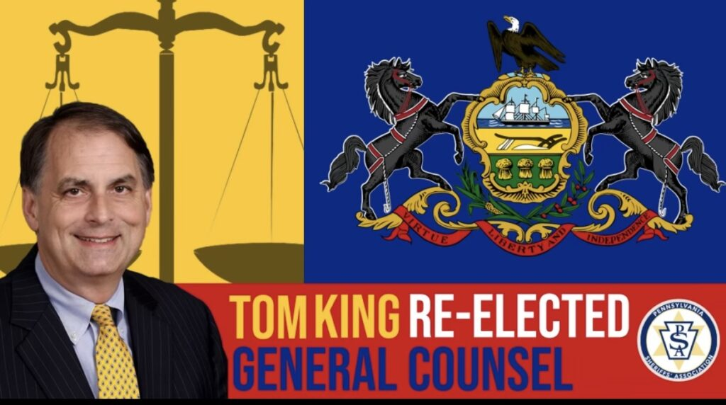 Amistad Attorney Tom King Re-Elected General Counsel to Sheriffs' Association For 22nd Year in a Row